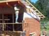 pulido y protección hidrofugante de la madera
