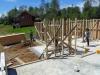 estructura pies derechos madera impregnada