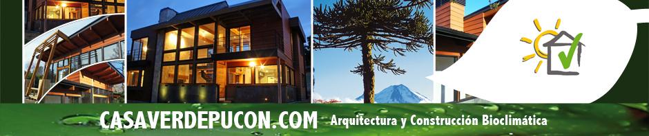 Casa verde pucon arquitectura y construccion bioclimatica for Arquitectura y construccion